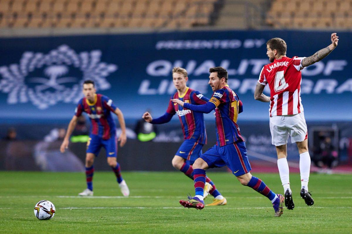 ⏰ Final de los 90 minutos. El partido se marcha a la prórroga (2-2) #SupercopaBarça