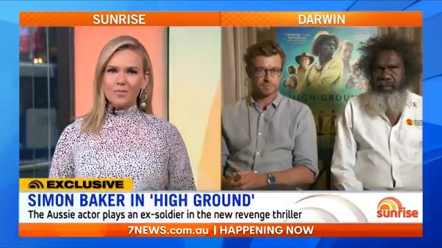 """""""I really hope every Australian gets off their bum and goes and sees this movie, because it's a special story and it's something we really need to look at""""  @Edwina_B spoke to Simon Baker and Witiyana Marika about their powerful new action thriller, #HighGround."""