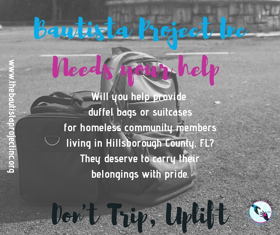 #tuesdaymotivations Homeless community members carry all of their belongings in a bag, usually multiple bags.🎒 With your help, they can secure their belongings and travel more efficiently. 🌎💙    #donttripuplift #endhomelessness
