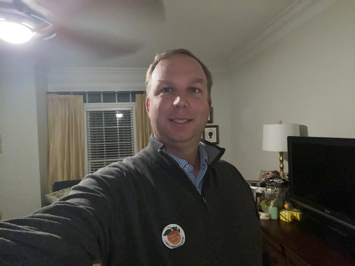 Proud Georgia voter. If you don't go vote, please don't complain on social media. #postthepeach #stopthecommercials https://t.co/d7gUbm7sT5