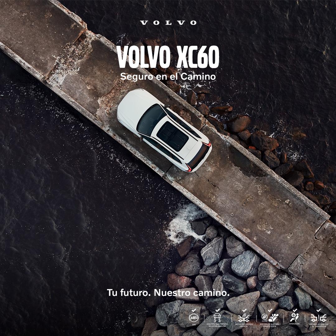 Sigue tu destino con máxima seguridad a bordo del #VolvoXC60, gracias a la Asistencia de Mantenimiento de Carril y a su gran desempeño en el camino. #TufuturoNuestrocamino