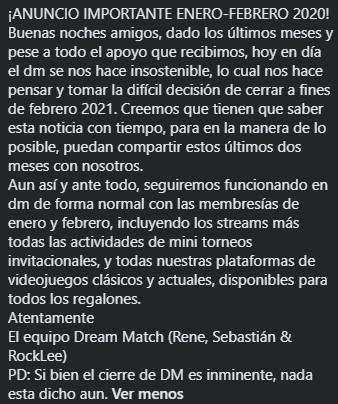 Replying to @Dream_Match_CL: ¡ANUNCIO IMPORTANTE ENERO-FEBRERO 2020!