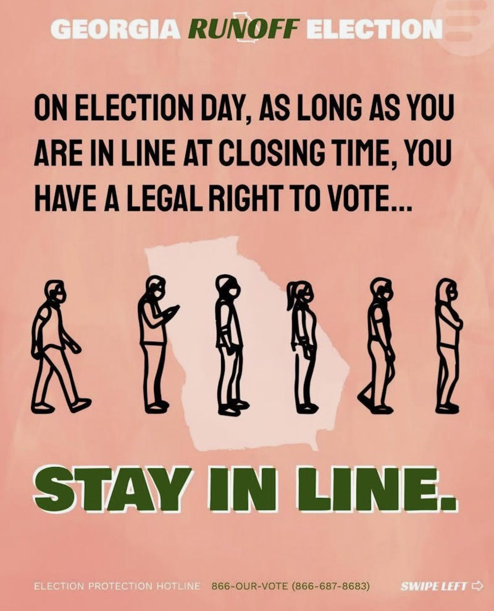 #Georgia voters: If you are still in line, here is some important information for you. #gasen