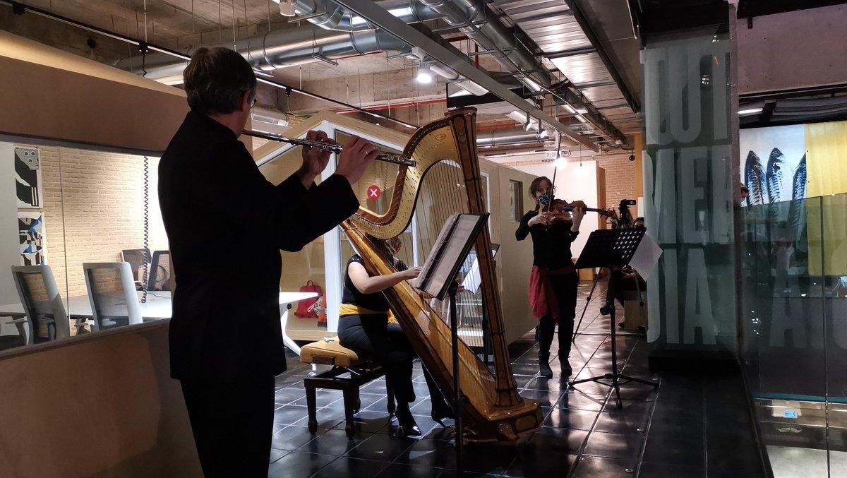 Trío de flauta, arpa y viola en la conmemoración del #adviento finlandés en Madrid y el aniversario del compositor #JeanSibelius