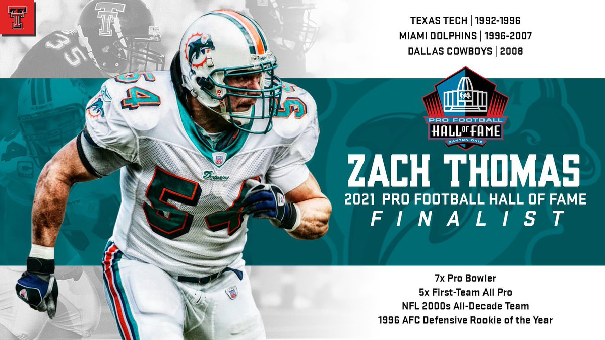 Replying to @TexasTechFB: Vote. Him. In.   Congrats, Zach, on being named a #PFHOF21 Finalist‼️
