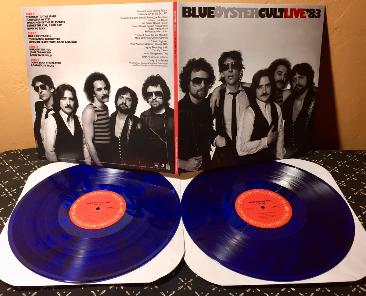 BLUE ÖYSTER CULT • LIVE '83 (Real Gone Music / Columbia, 2020) Recorded at Perkins Palace, Pasadena, CA on July 24, 1983. Rockin' set of heavy early material, covers, & two from their latest FIRE OF UNKNOWN ORIGIN 2xLP Black & Blue #vinyl #RSD20 #RockSolidAlbumADay2021 005/365