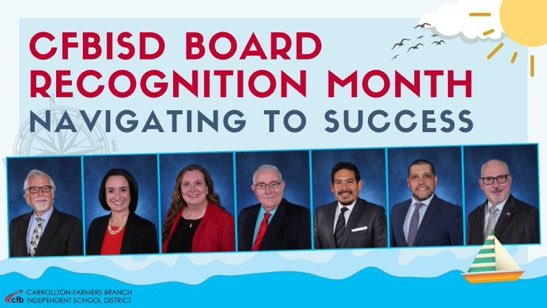 Recognizing our Board of Trustees in January for their service to CFBISD! #schoolboardappreciation