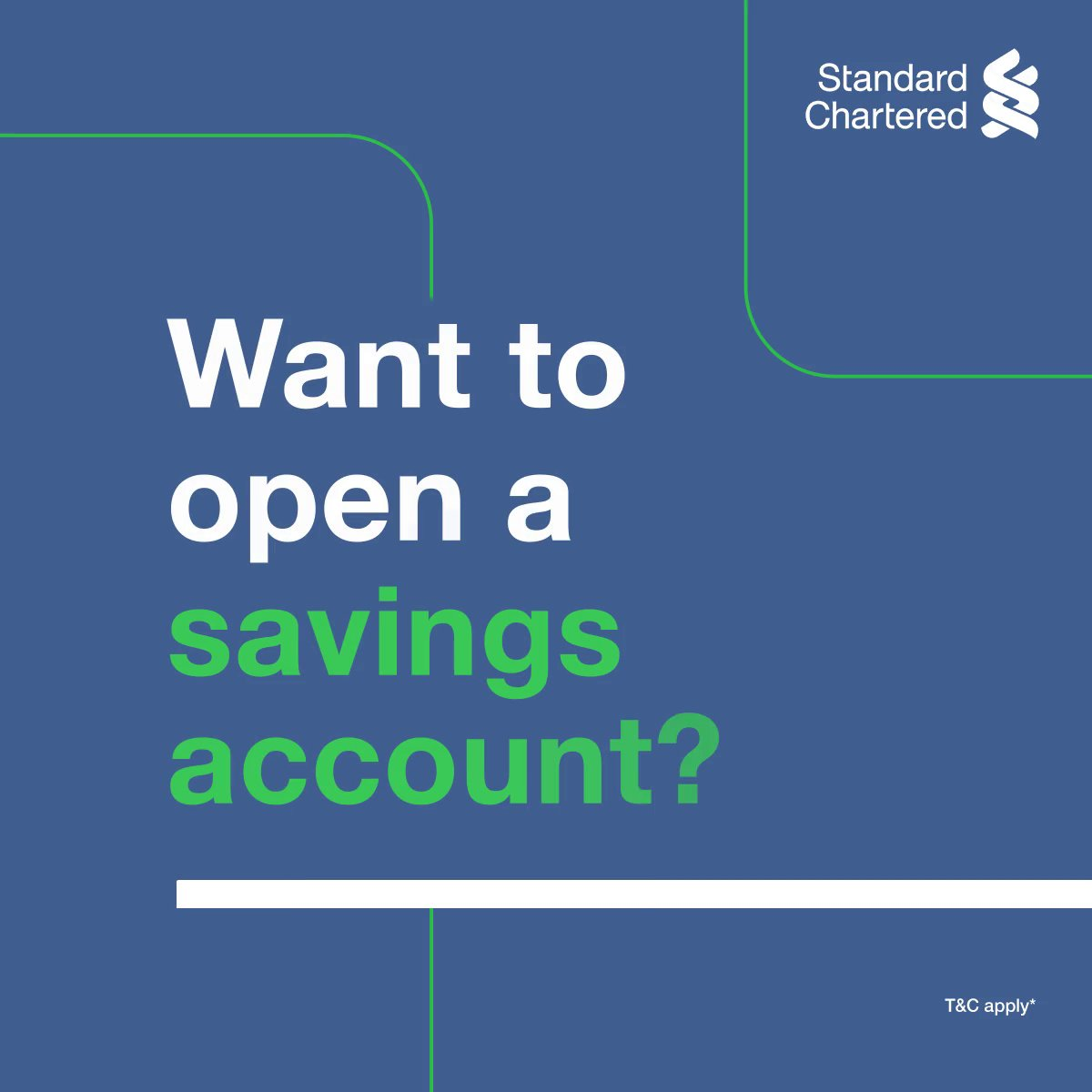 Why visit the bank when you can open a savings account from your home, with a click! #TechItEasy with Standard Chartered and open a savings account with zero-contact Video KYC today. To know more,