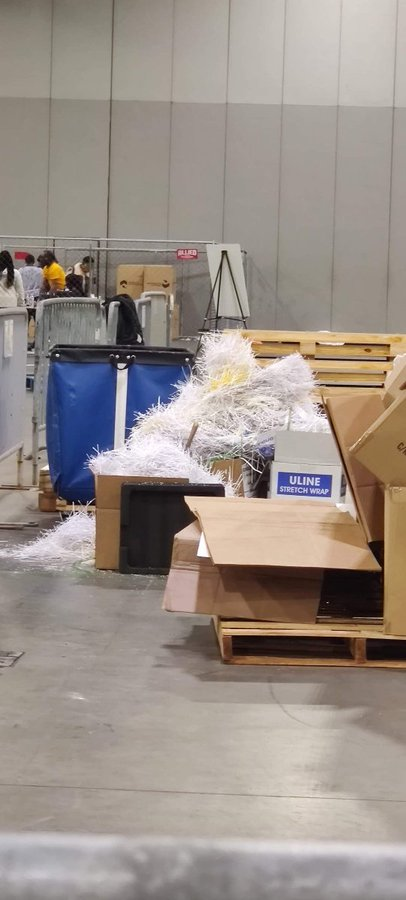 Our team is in Georgia. They took a little walk. They found shredded ballots in Dell boxes. Police came as well. They wanted to confiscate phones with evidence. Here is just the first few photos. (mobile.twitter.com)