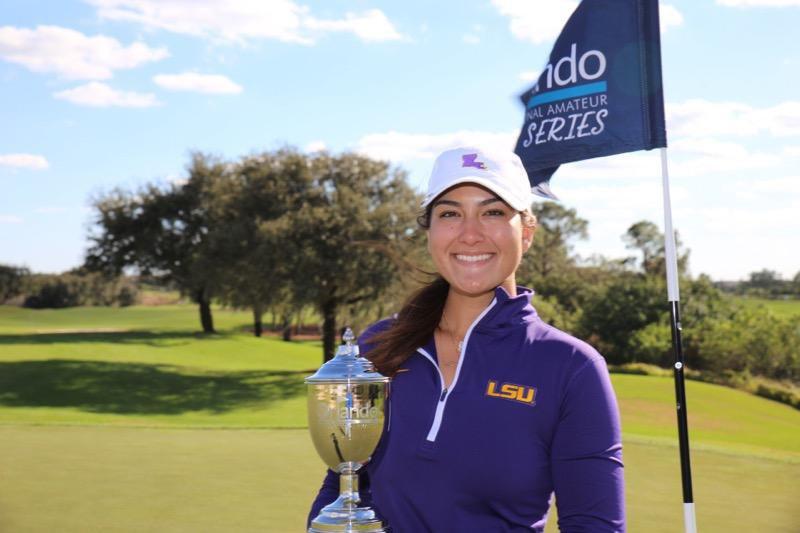 Congratulations @LatannaStone our Women's champion with a total of 5 under par 🏆💪🏻 @LSUWomensGolf https://t.co/WdUbc4JvDP