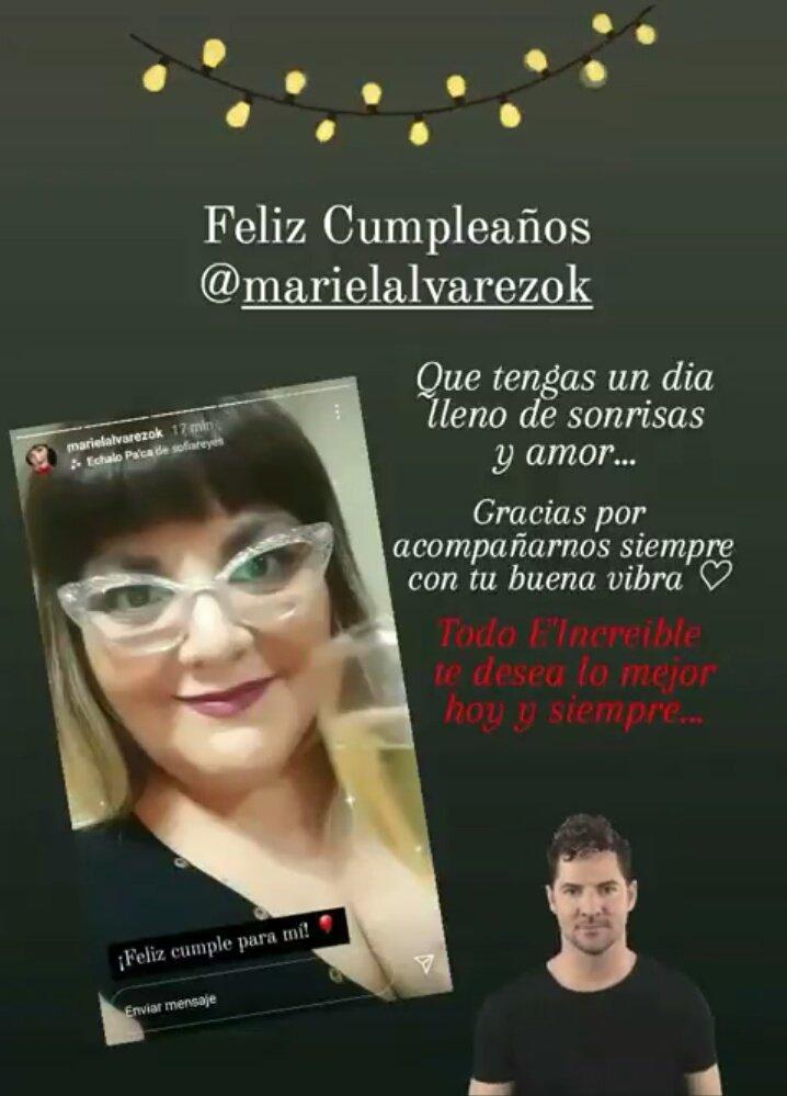 Hoy cumpleaños la genia de @marielalvarez1 y todo E'INCREIBLE le desea que pase un dia hermoso junto a sus seres queridos ❤❤❤