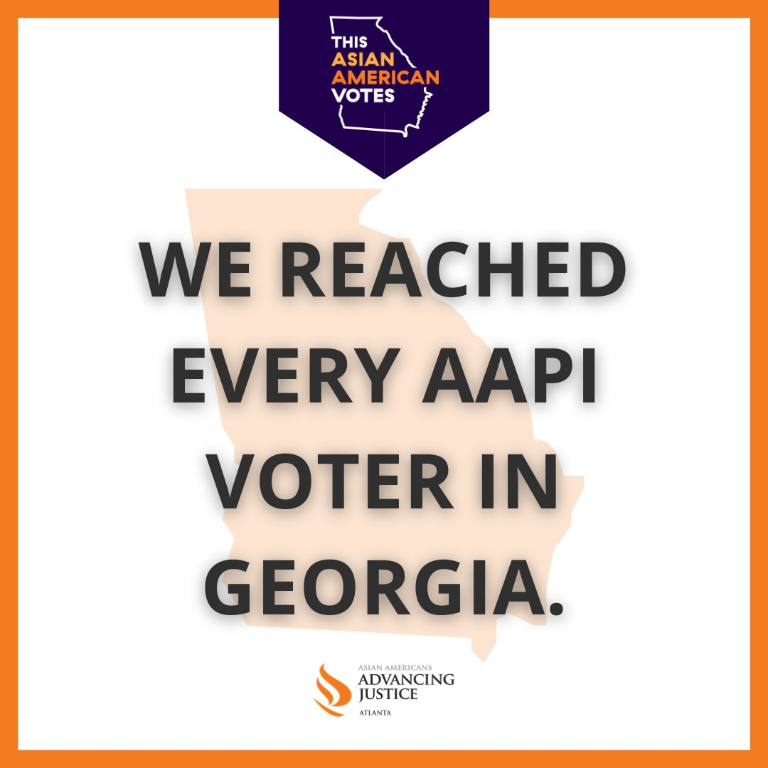 It took a lot of dedication, trust + hard work to get here. TY to the volunteers, communities who've put their trust in our work, and the leaders and organizers who helped turnout + protect the AAPI vote. This is our post election story. #AllEyesOnGeorgia #ThisAsianAmericanVotes https://t.co/JbGkStHOoO