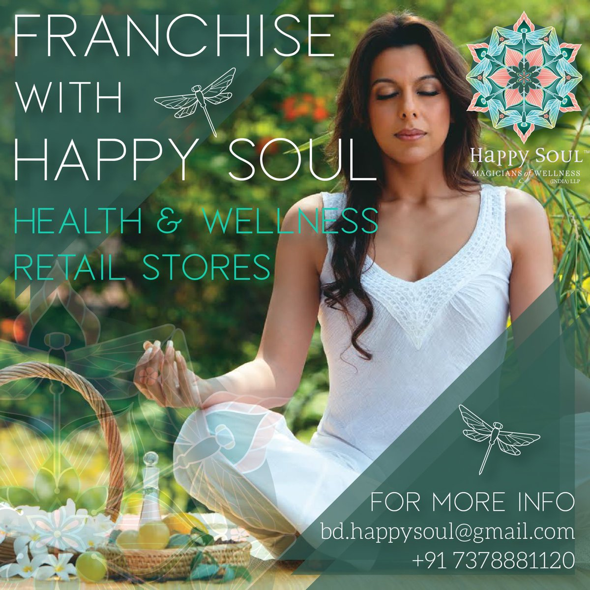 Delighted 2 share that my brand #happysoul has signed a 50 store franchise deal for our health & wellness retail stores across India. If YOU would like to b our franchisee❤ contact details are on the pic!!  @happysoulindia #happysoulmoment #happysoullifestyle #happysoulwellness