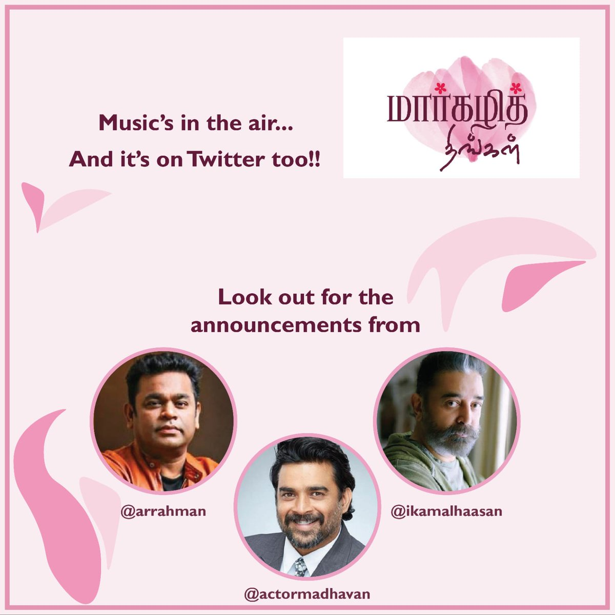 #OnePaasuram #9Voices #InHarmonyandPeace #MargazhiThingal  Launched by @ikamalhaasan  @arrahman & @ActorMadhavan  On Friday Jan-8th 5:00PM #StayTuned for Interesting Announcement  @hasinimani @madrastalkies #HMV @saregama_official @onlynikil