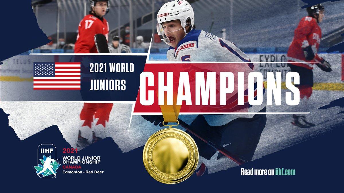 Replying to @IIHFHockey: 🏆Ladies and Gentlemen, your 2021 #WorldJuniors CHAMPIONS!  @usahockey