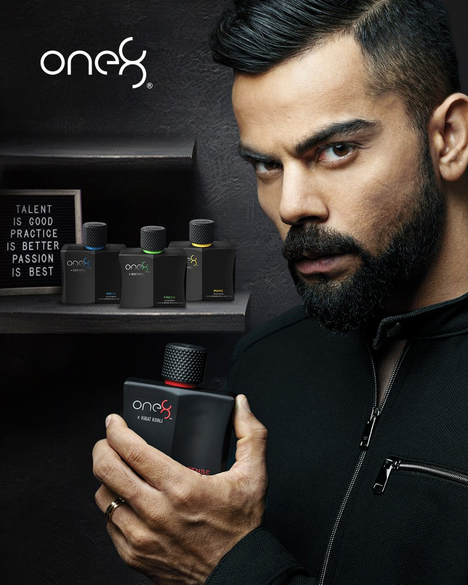 @imVkohli Get the perfect boost of confidence with #one8fragrances Check them out now!  @one8world @ScentialsWorld @Flipkart