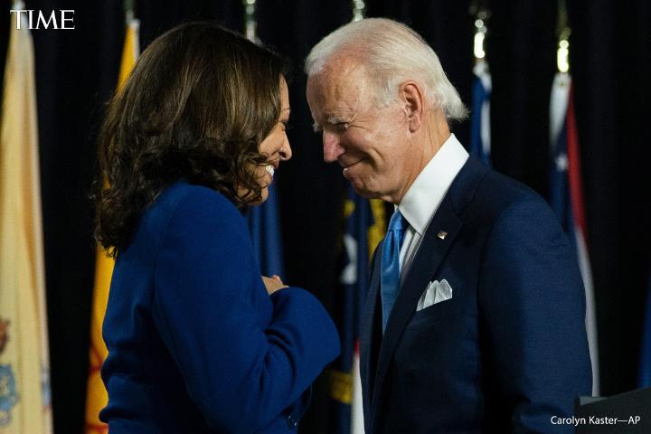 """She is straight as an arrow."" President-elect Joe Biden on selecting Kamala Harris as his running mate #TIMEPOY"