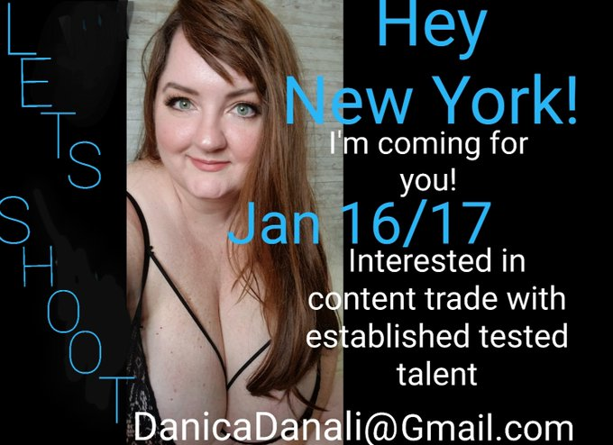 New York I'm coming to see you! Jan 16/17  If any tested established talent wants to shoot, let me know