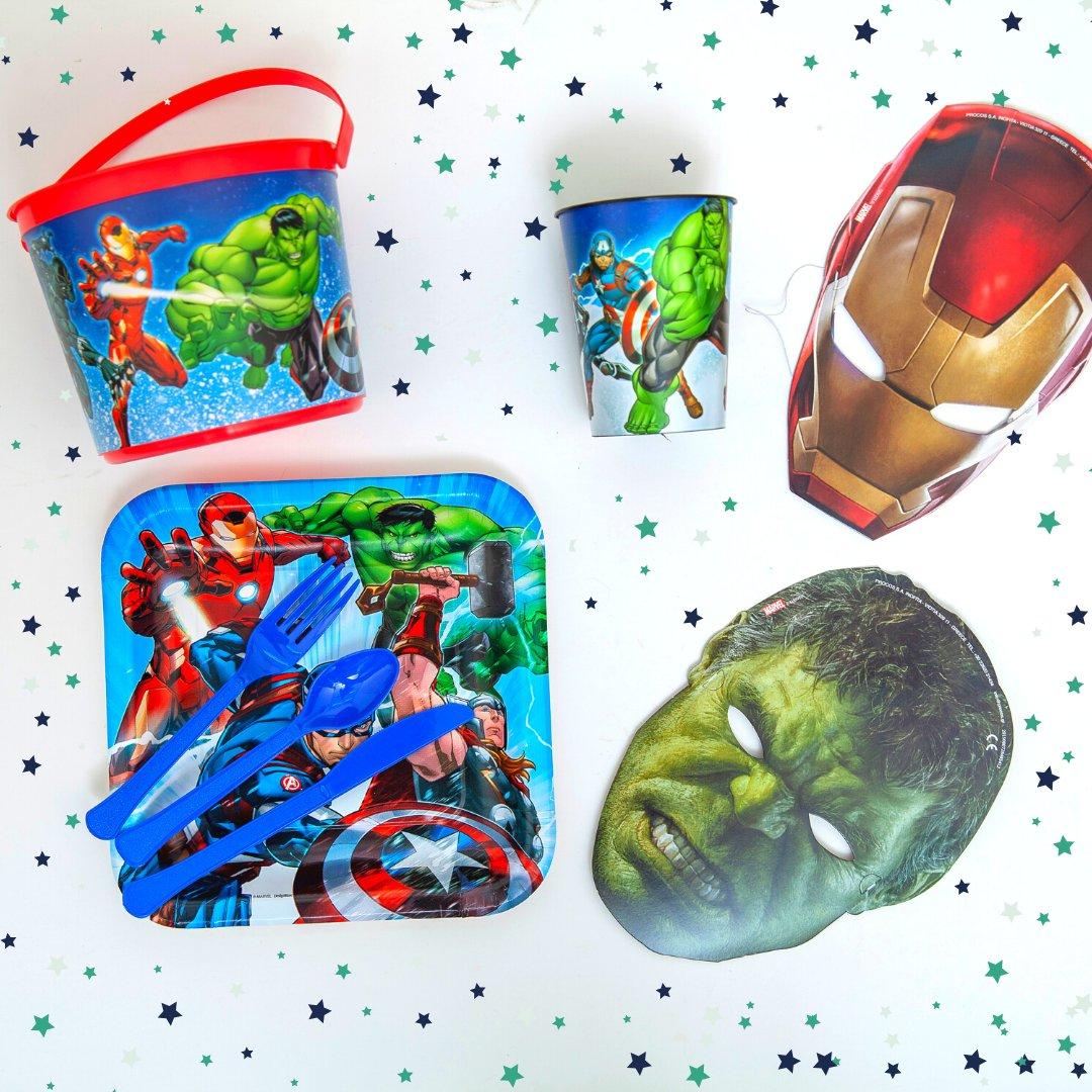 Avengers assemble! Prepare for an action-packed adventure - from tableware, decorations, to party favors, your Avengers-themed party is sure to be an instant hit!  #birthday #celebratebirthday #themecelebration #Avengers #Avengerscelebration #Avengerscelebrationideas