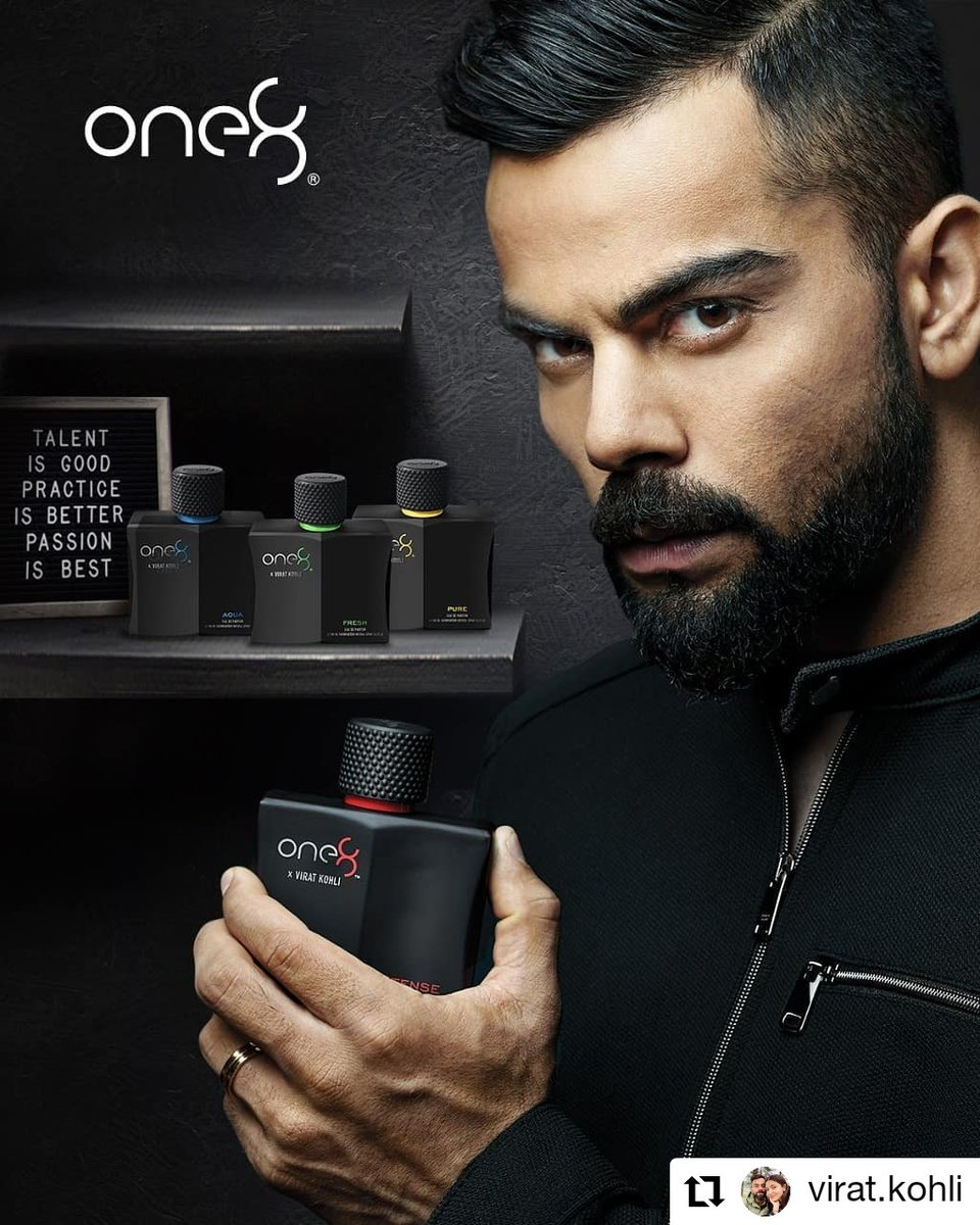 Repost by @imVkohli  Get the perfect boost of confidence with #one8fragrances Check them out now!  one8 Scentials World Flipkart