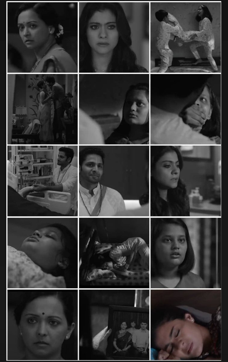 Black and white montage from #TribhangaTrailer 😭 omg our baby Anu had a traumatic childhood 💔  @itsKajolD will do so much justice to this role, im certain!