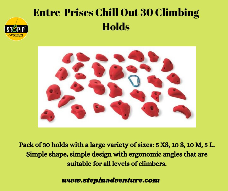 Entre-Prises Chill Out 30 Climbing Holds. https://t.co/2j3vX7sKBg #climbing_is_my_passion #timetoclimb #boulder #routesetting #climbingholds #climbingtraining #climbers #climbinglovers #climbingworldwide #holds #climbingislife #indoorclimbing #climbing_lovers #entreprisesholds https://t.co/csy4FDhvGN