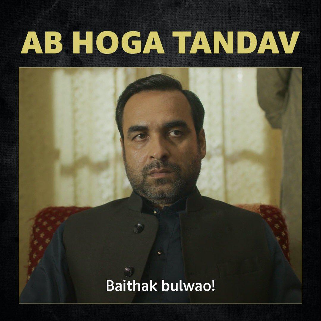 Kaleen bhaiya ke bulawe pe, ab hoga tandav. #TandavOnPrime releasing on Jan 15.