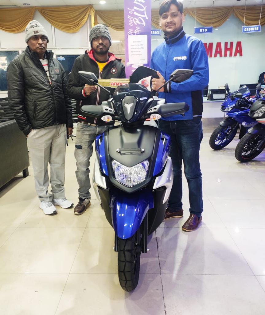 Thank you Mr. Saurabh for your purchase😊😊 . We hope you are happy with the purchase. Because of loyal customers like you, we're growing so fast.  Call Us📲:-For sales: 8948433111 #Yamaha #YamahaIndia #YamahaRacing #LordofAdventure #revsyourheart #YamahaRacing #yamahamotorsindia