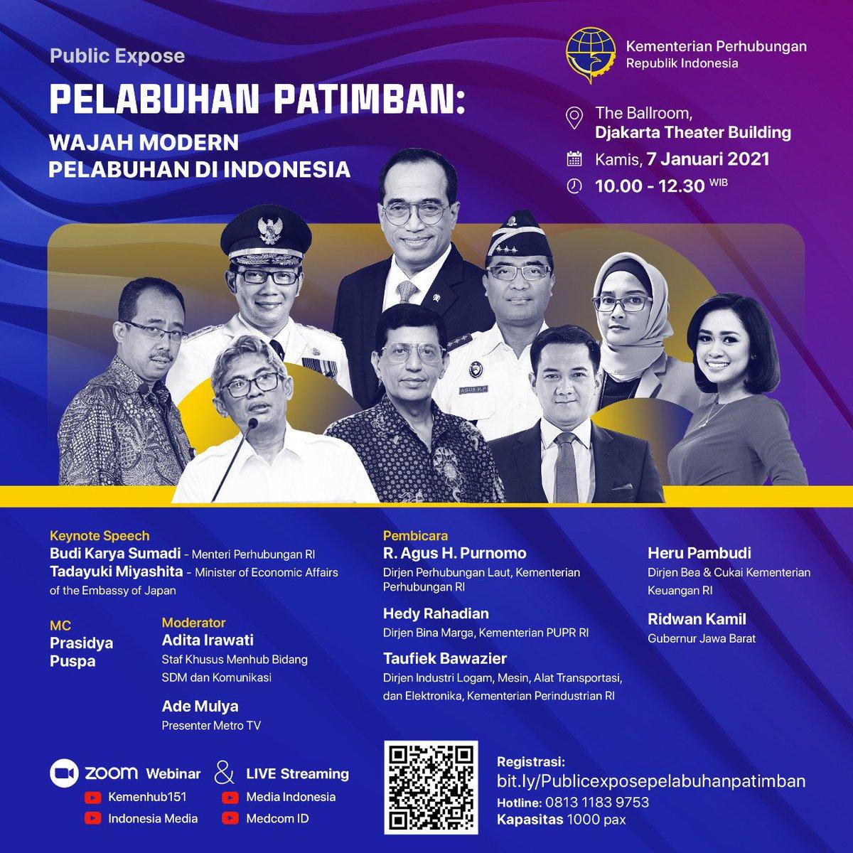 Saksikan live streaming Public Expose Pelabuhan Patimban: Wajah Modern Pelabuhan di Indonesia yang akan berlangsung pada hari Kamis 7 Januari 2020 pukul 10.00 - 12.30 WIB  #MTVNAD