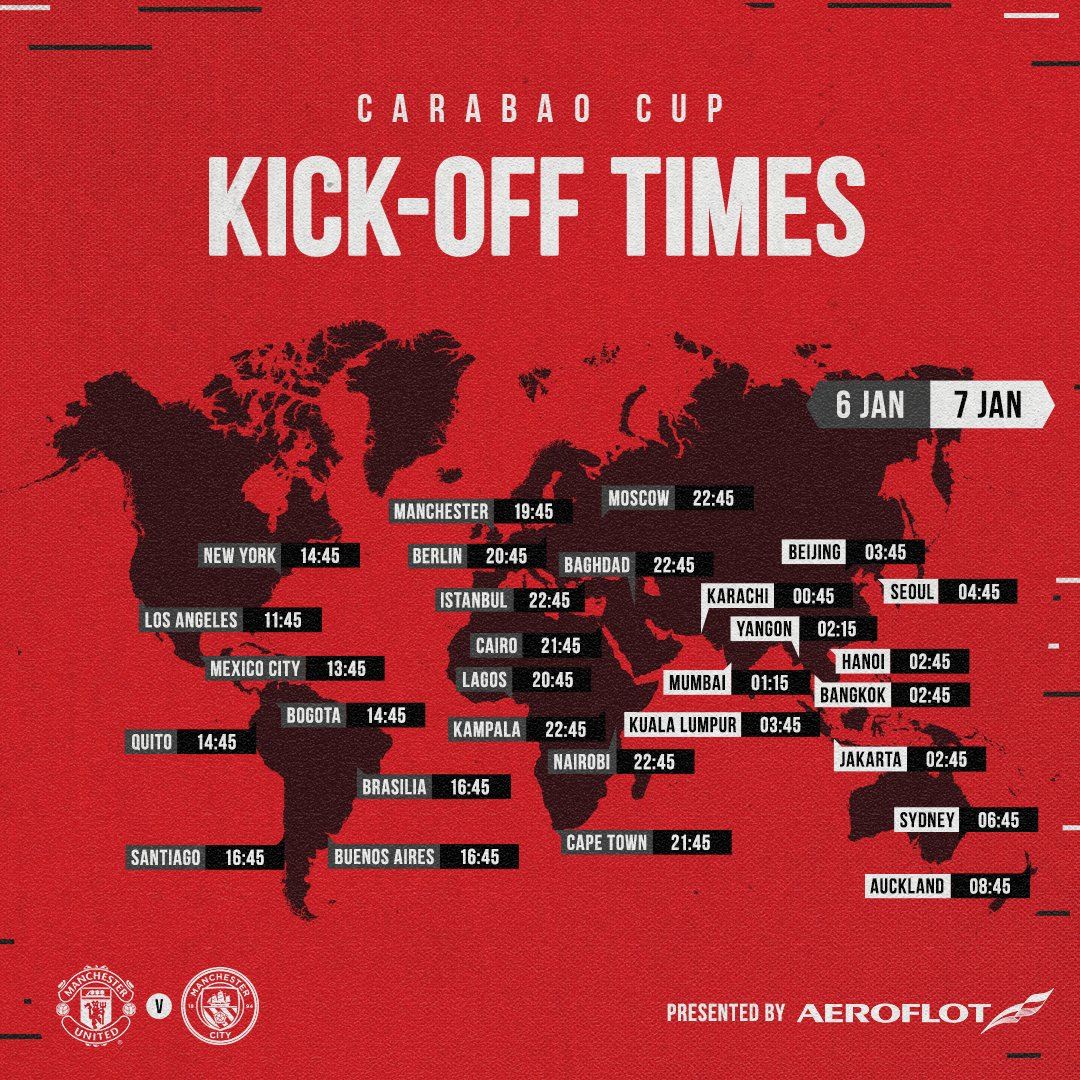The second derby of the season — let's make it one to remember! 🔴⚪️⚫️  🔴 #MUFC ✈️ @Aeroflot_World 🌎 #WeBringTheWorldTogether