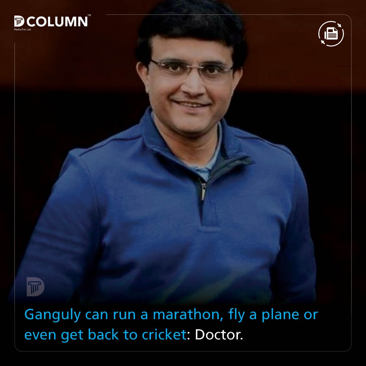 D Column Media On Twitter Cardiac Surgeon Devi Shetty Who Examined Sourav Ganguly At A Hospital In Kolkata Has Said That The Bcci President S Heart Has Not Suffered Any Damage After The