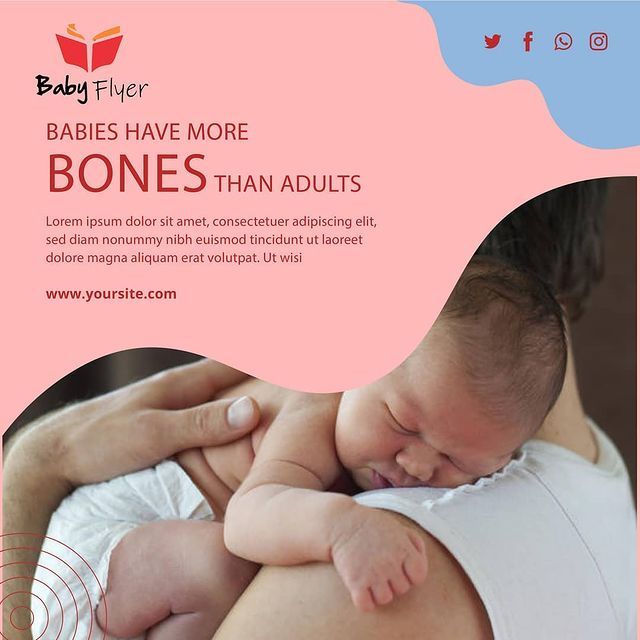 Your baby was born with about 300 bones. As she grows, many of these will get harder, and some will fuse together.  For example, the skull starts as three pieces of bone joined by cartilage, so that it can fit through the birth canal. #pastmemories #happymoments https://t.co/cHZT76SCuq