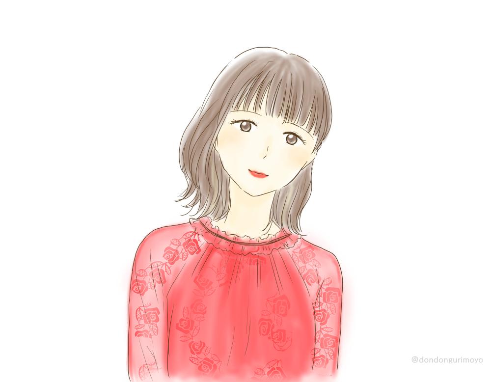 赤いドレス姿が可愛かったのと、個人的ベストショットしおりん。 #玉井詩織 #momoclo_fanart #ももいろ歌合戦