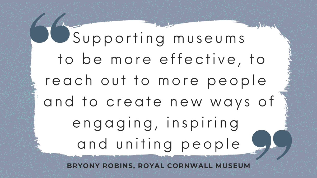 Some fantastic #feedback on our #impact from previous CMP Development Officer @BryonyRobins, Creative Director of @Cornwall_Museum 🙌  Find out more on the 'What We Do' page of the #CMP website 💻👇