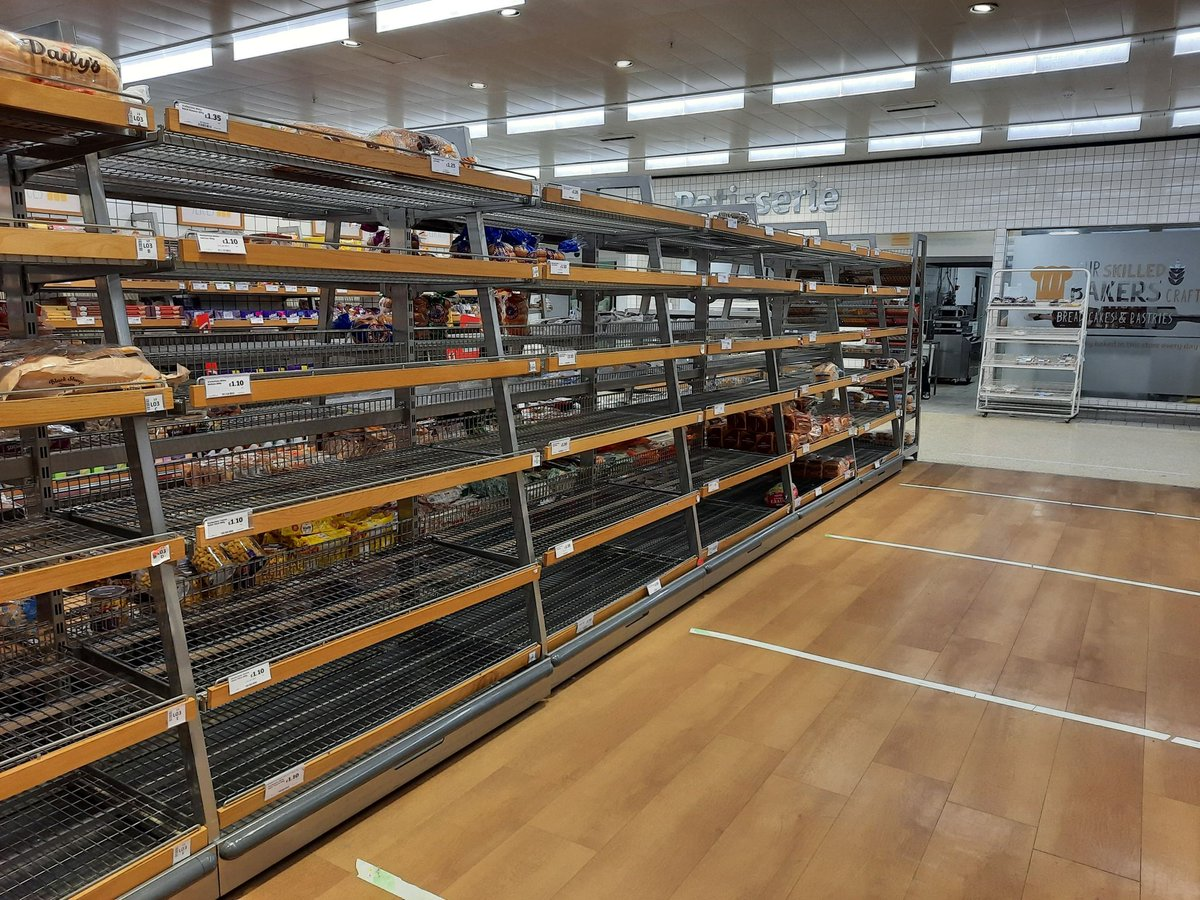 Took this photo yesterday of panic buying and empty bread aisles and readers accuse you of using an old picture from March to 'scaremonger' and accuse you of fake news. I SAW IT WITH MY OWN EYES AND TOOK THE PICTURE!