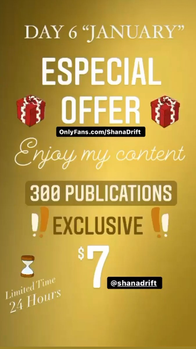 Los Reyes Magos traen oferta! 🎁👑 OnlyFans.com/ShanaDrift