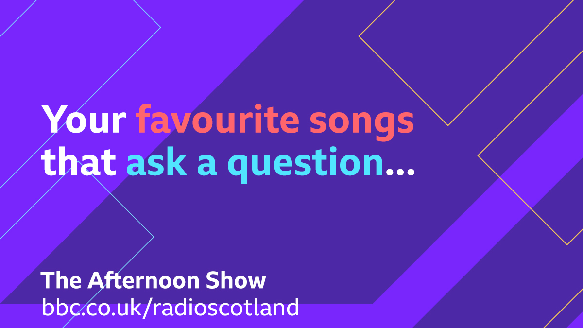 Topical Tune Alert!  We've got quizzer @goosearoundtown on the show today, so we're after your songs that ask a question!  Do you really want to hurt me? Should I stay or should I go?   Get suggestions in and join us for #TheAfternoonShow from 1:30pm  🔈