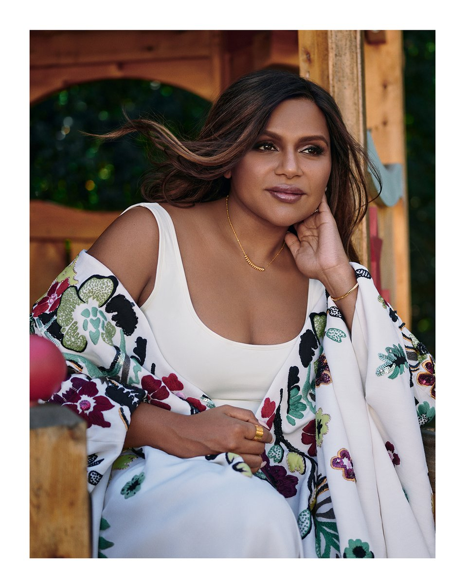 .@mindykaling was photographed by @mrmikerosenthal in a floral embroidered caftan from #ValentinoDiary for @VOGUEIndia's December 2020 cover story. Styled by: Ria Kamat Shetty Makeup: Carola Gonzalez Hair: Patricia Morales #ValentinoNewsstand
