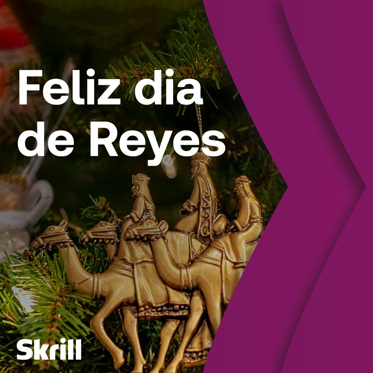 Happy Dia de Reyes! ✨  Have a great start of the year and send a small gift to your loved ones with Skrill Money Transfer.  There's ZERO transfer fees when you send to a bank account abroad.  Get started 👉 https://t.co/4ICZiTW7TZ  #diadereyes https://t.co/4NFAsn21Ob