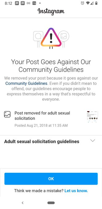 Each time i log in to @instagram, I'm reminded of how much I hate it because of the RAMPANT DISCRIMINATION