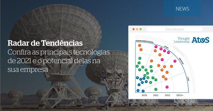 O radar de tendências da Look Out Tech desenvolvido pela comunidade de especialistas Atos...