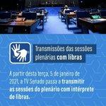 Image for the Tweet beginning: Parabenizo a TV Senado (@tvsenado)
