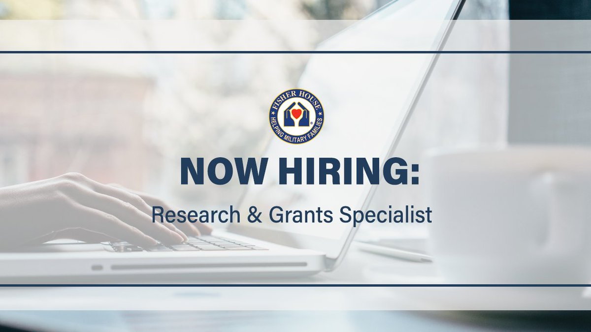 We are hiring a Research and Grants Specialist, for more information: .