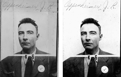A large-scale restoration project has repaired the photos of 1,400+ Manhattan Project workers — including J. Robert Oppenheimer's — which had 75-plus years of built-up grime on them.  https://t.co/xbKiNfoLCN https://t.co/LXYpPOZo6E