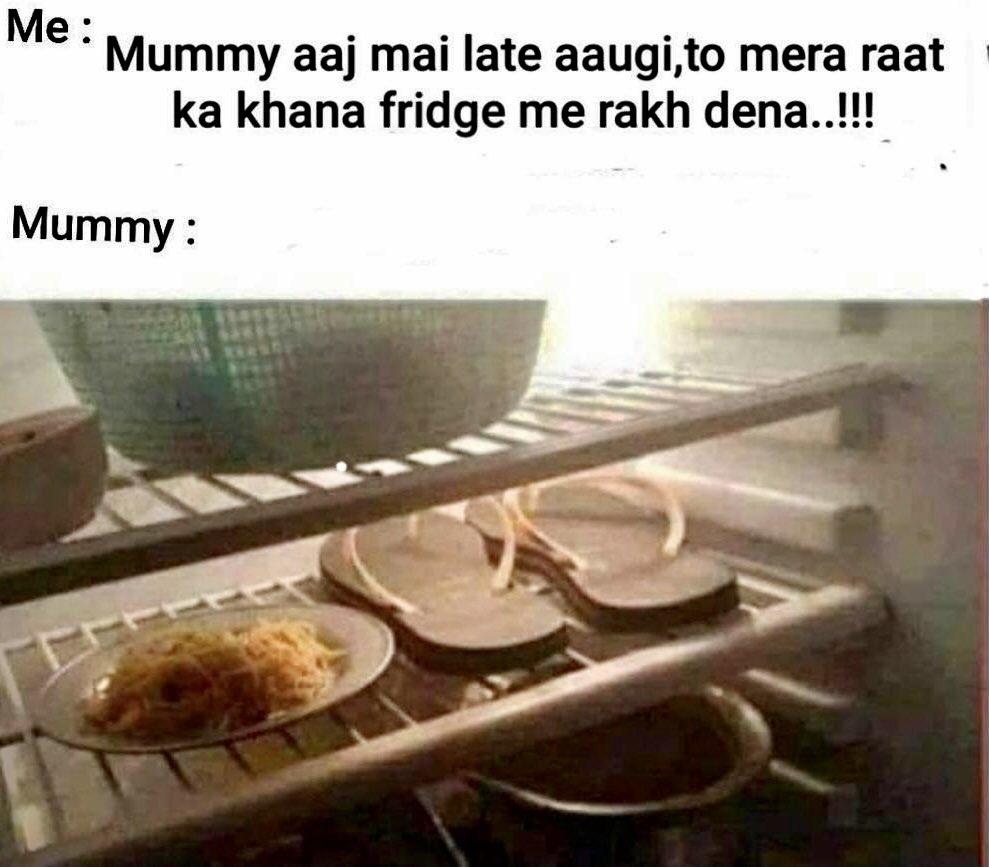 Khaana with Dessert 🍲love you Mummy 😜