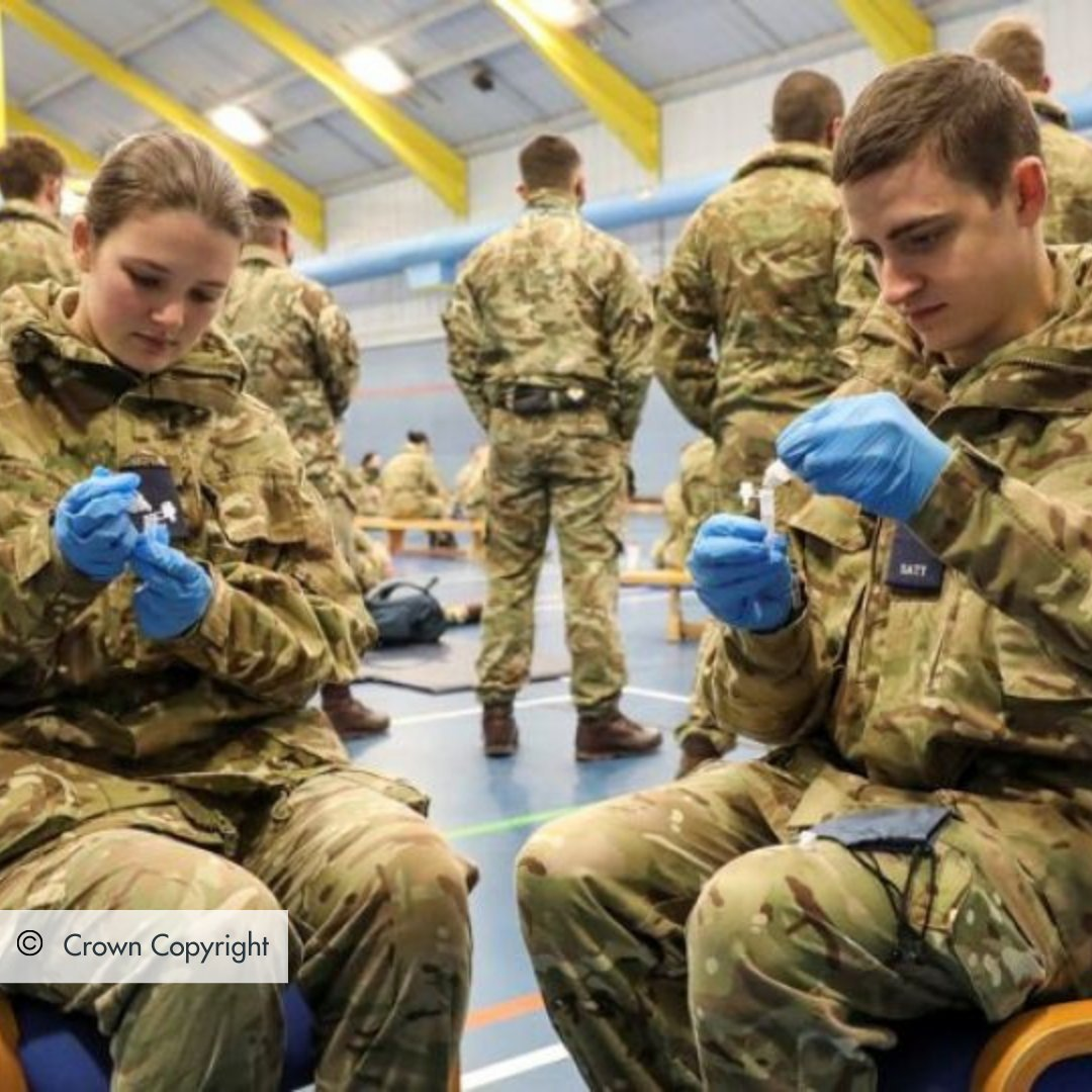 """The #ArmedForces #COVID19 response is """"the biggest ever homeland military operation in peacetime"""" according to @defencehq. 5000 personnel are deployed throughout the UK handling 70 pandemic tasks. Thank you to everyone pushing us towards a life free of #Coronavirus ❤️"""