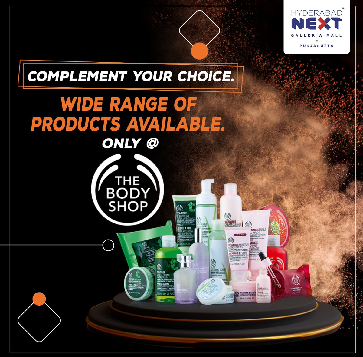 Complement your choice Wide range of products available at The Body Shop Visit Hyderabad Next Galleria Mall @ Punjagutta  #BodyShop #Punjagutta #TheBodyShopIndia  #GrabNow #Hurry