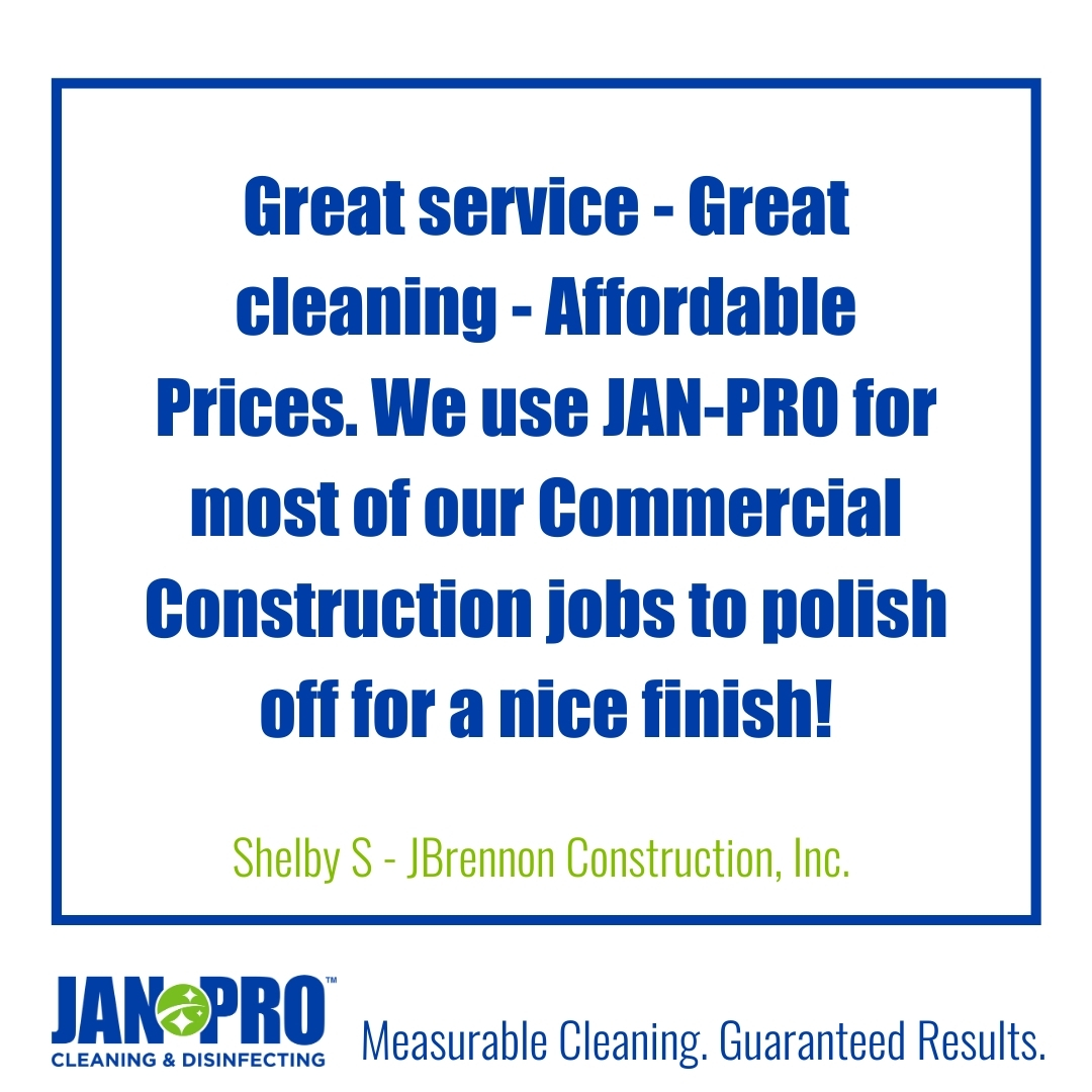 RT  Our customer relationship means a lot to us, we always ensure our client's satisfaction. Call us to get a free cleaning estimate! #janpro #clienttestimony #clie…