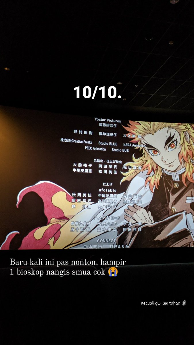 Demon Slayer 10/10. Ga ada obat.  #DemonSlayer  #DemonSlayerMovie  #DemonSlayertheMovieMugenTrain #kimetsunoyaiba  #kimetsunoyaibathemovie