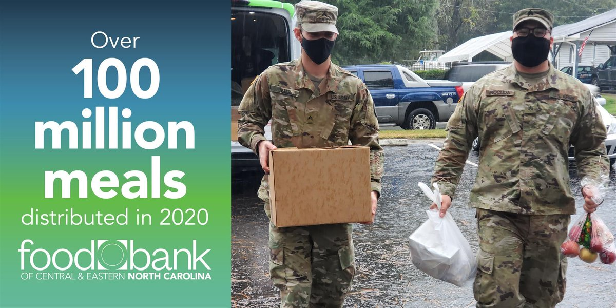 Wow! @FoodBankCENC distributed over 100 million meals in 2020.  That's nearly 250,000 meals per day! Here's how they did it:   #NoOneGoesHungry